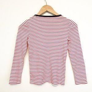24f63942a2 Gymboree Shirts   Tops - Gymboree Nautical Red White Stripe Navy Bow TShirt